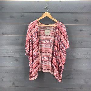 ASOS Aztec Print Kimono Blouse Size 4 NWT